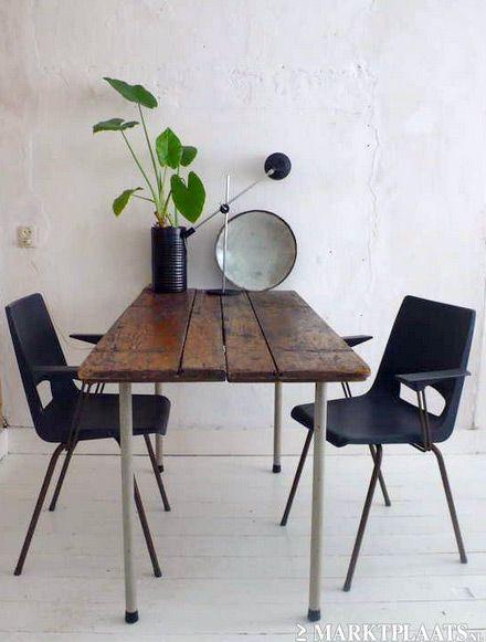 Vintage stoelen, stoeltjes industrieel