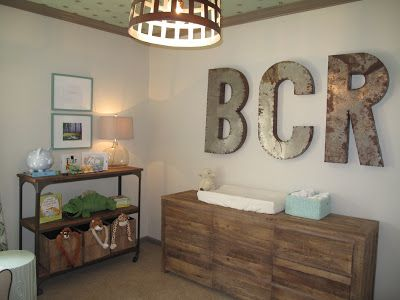 Haven and Home: St. Vincent Nursery Pictures! initials above the changer