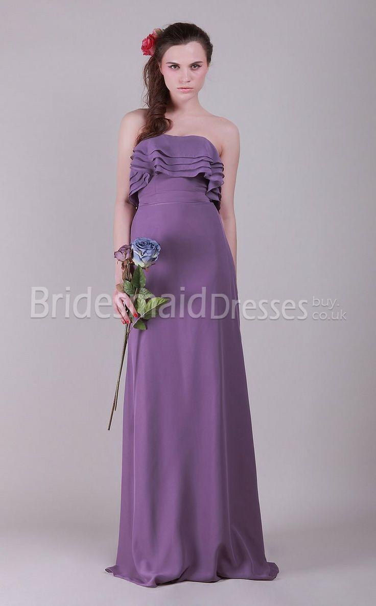 Love the style, in a darker purple   Bridesmaids   Pinterest   Maids ...