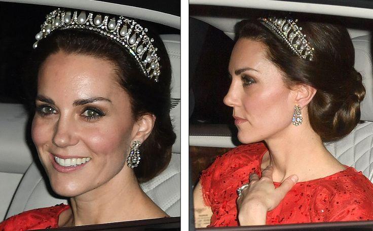 Герцогиня Кейт посетила Дипломатический прием в Букингемском дворце
