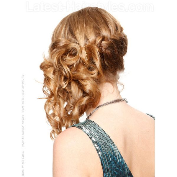 25 Cute Prom Hairstyles Guaranteed to Turn Heads ❤ liked on Polyvore featuring hair and hairstyles