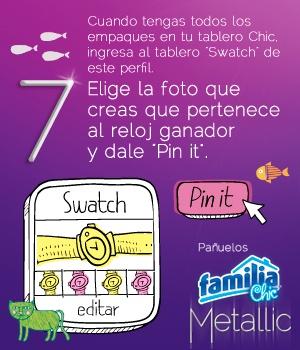 Pañuelos Familia® Chic Metalic - instrucción 7