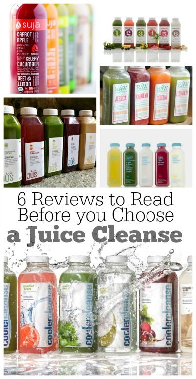 6 Reviews to Read Before You Choose a Juice Cleanse : from BluePrint, Raw Generation, Cooler Cleanse, JUS by Julie, Suja and Urban Remedy.