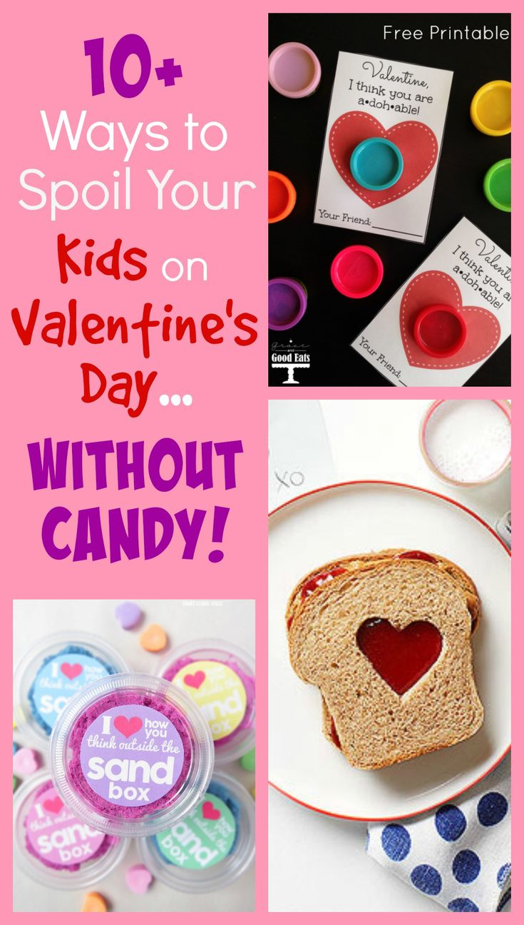 10+ Ways to Spoil Your Kids on Valentine's Day Without Candy.  Great ways to celebrate Valentine's Day with your kids! #valentinesday #kidsgifts #giftideas #theseasonedmom