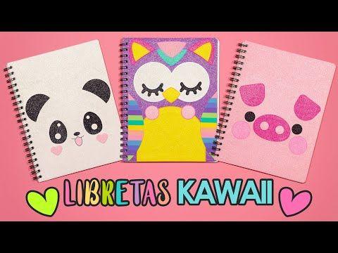 DIY: DECORA tus libretas KAWAII de PANDA BUHO y CERDITO