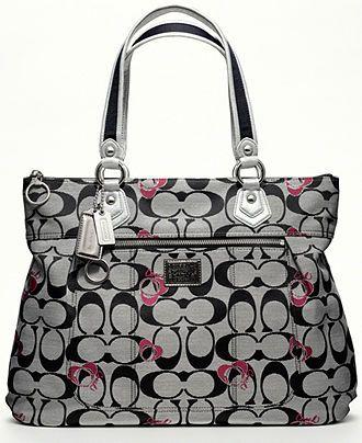 COACH POPPY SIGNATURE GLAM - All Handbags - Handbags & Accessories - Macy's