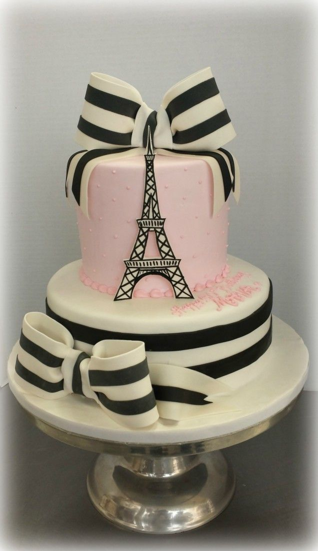 Best  Eiffel Tower Cake Ideas On Pinterest Fondant Cake - Birthday cake paris
