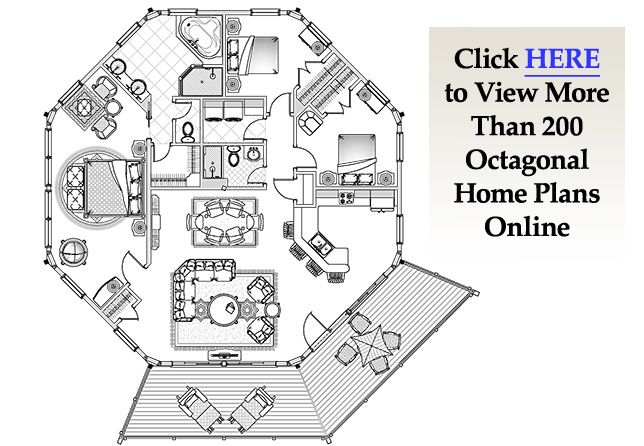 Topsider's octagon house plans are a popular alternative to round houses and traditional architecture. Easy to build and great to live in. #prefab #custombuilt #houseplans