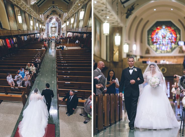 Bride walks down the aisle at St. Andrew Avellino Church ...