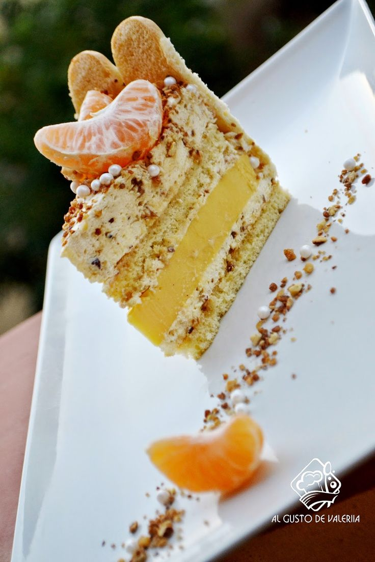 Al gusto de Valeriia: Мандариновый торт с ванильно-сливочным муссом