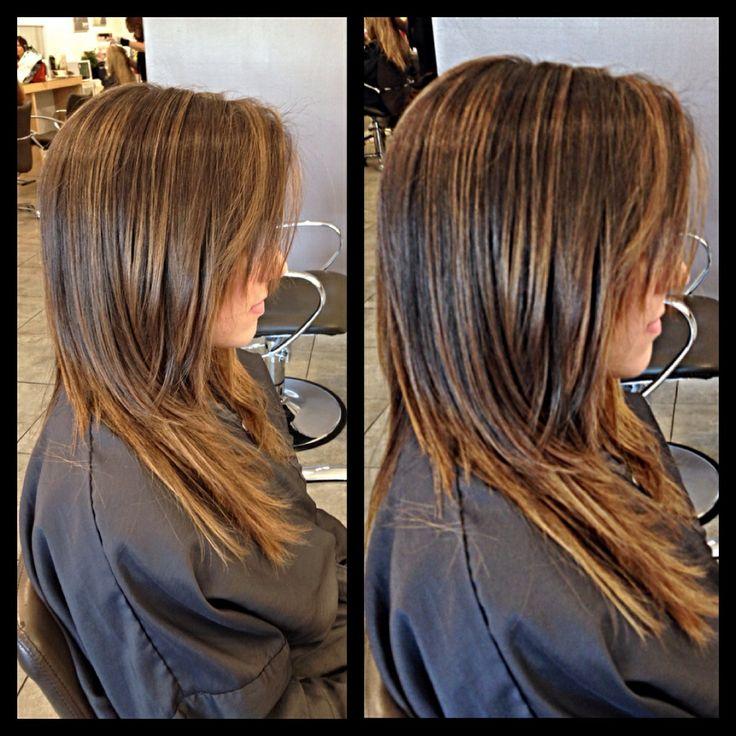 Laura had some honey golden Balayage highlights done at Gleam Hair Studio Miami.