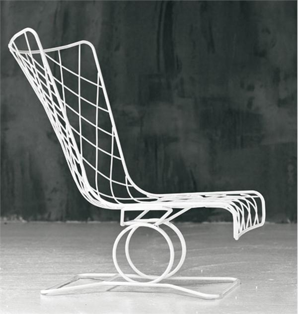 Outdoor White Wire Patio Chair From Gervasoni Summer