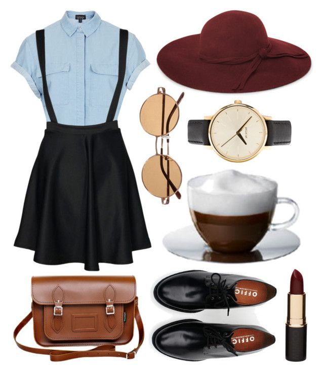 Untitled by hanaglatison on Polyvore featuring moda, Topshop, mae, Brixton, Zatchels, Nixon, French Connection, Mimco and Bodum