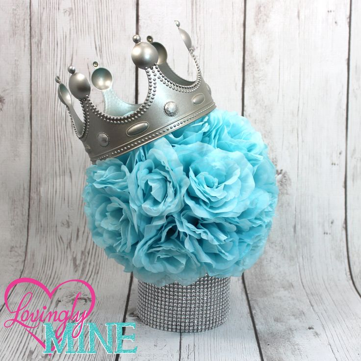 Little Prince Inspired Centerpiece, Perfect for Any Event - Baby Blue & Silver - Baby Shower, Birthday Party, Christening, Baptism by LovinglyMine on Etsy