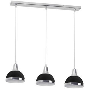 Buy 3 Bulb Chrome Pendant Light with Black Shades at Argos.co.uk - Your Online Shop for Ceiling and wall lights.