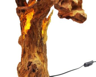 Driftwood lamp sculpture Driftwood  move by LegnoLichtskulpturen