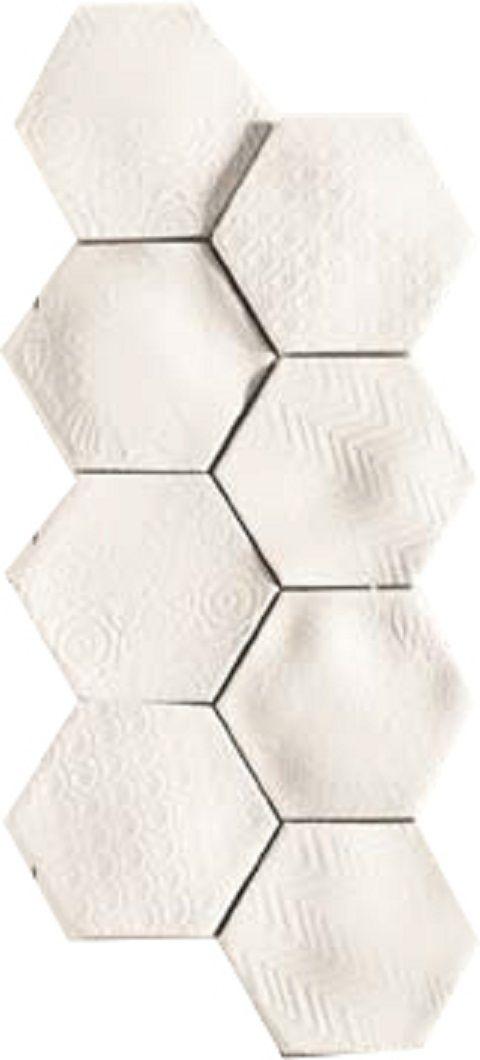 centro hex ag caprice bianco - National tiles $21 per tile