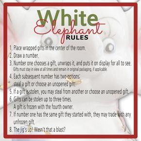 best 20 white elephant rules ideas on pinterest yankee swap rules gift exchange games and. Black Bedroom Furniture Sets. Home Design Ideas