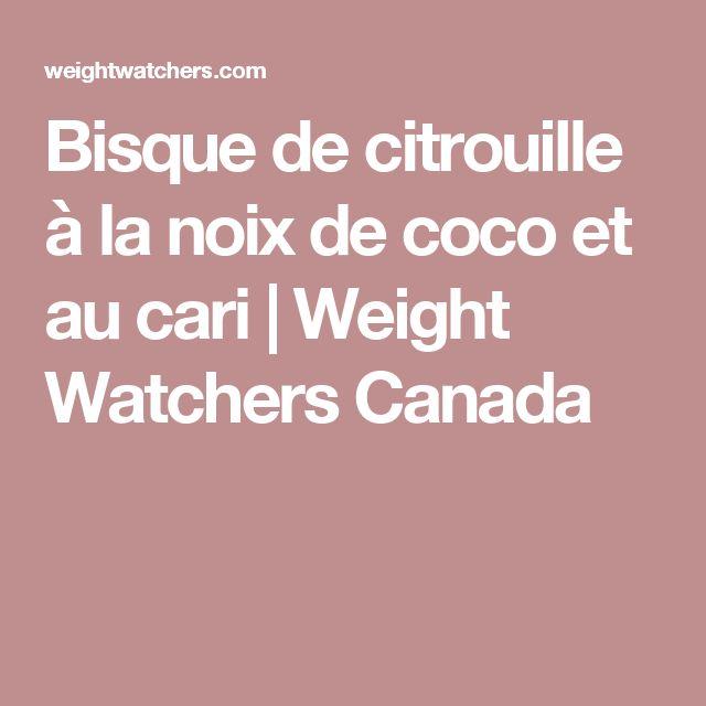 Bisque de citrouille à la noix de coco et au cari   Weight Watchers Canada