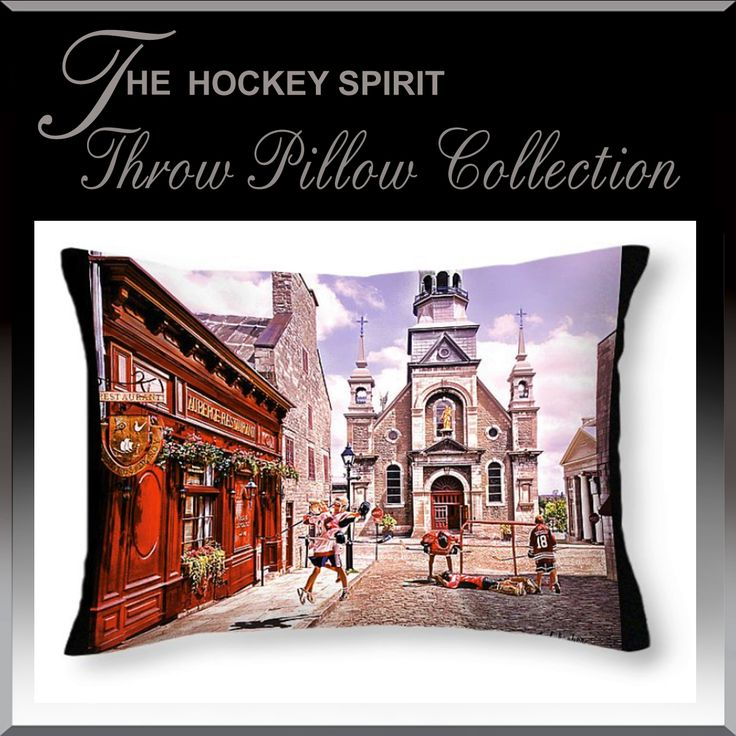 Transform your kids bedroom into a Hockey Spirit Art theme with our Hockey Spirit Throw Cushions and pillows. www.HockeyArt.org