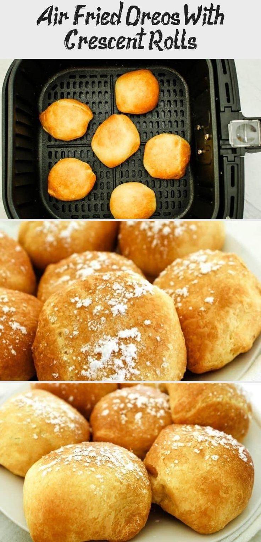 Quick air fryer dessert crescent rolls deep fried oreos