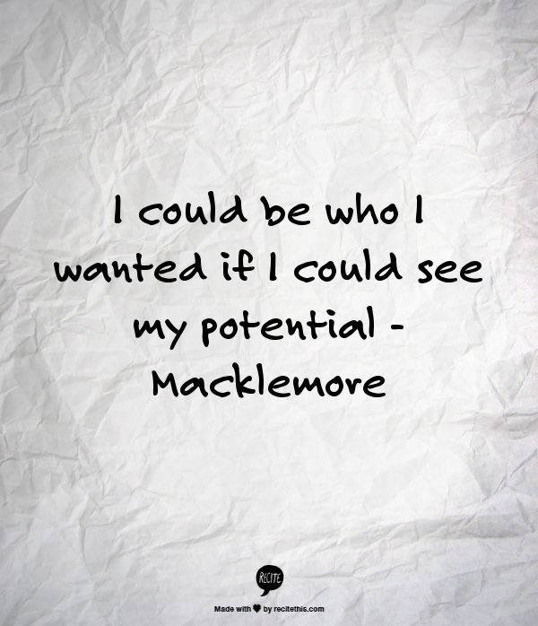 Love Macklemore's lyrics