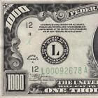 Beautiful San Francisco CA FRN 1934A CHICAGO $1000 DOLLAR BILL FR2212 500 3301C