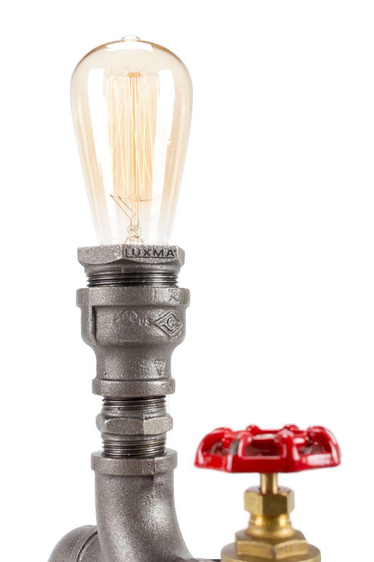 Retro Inspired Steampunk Pipe Desk Reading Lamps Modern Lighting for Comfort Reading  http://luxma.co.uk/table-lamp-1xst64-bulb-0020/  #luxma #edisonbulb #handmade #london #industriallooks #pipelamp #steampunklamp #tablelamp #lamp #desklamp #lightfixtures #bedsidelamps #homelamps #vintagelamps #standinglamps #readinglamps #hometablelamp #diningroomlighting #decorativelights #lamptable