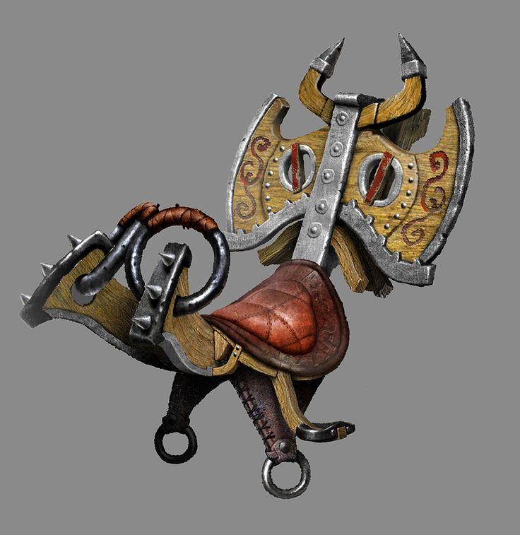 Stoick's dragon saddle.