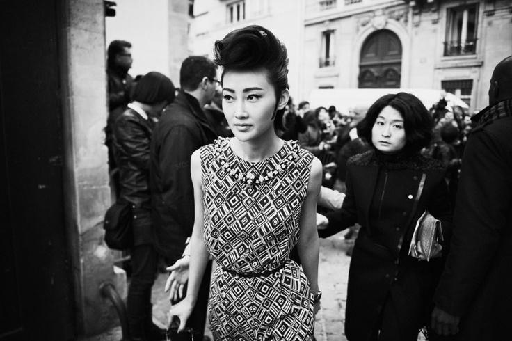 that hair! ++ fashion week . photography: ward ivan rafik