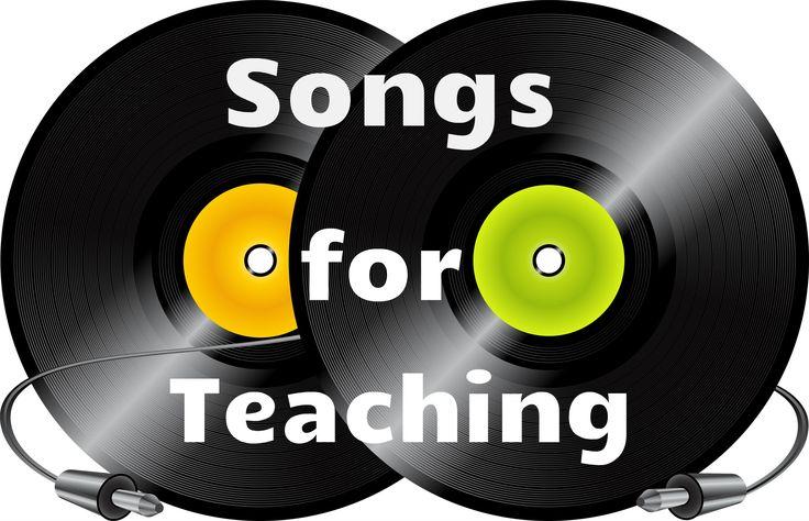 Colección de canciones en diferentes áreas temáticas. El pequeño icono con una L junto a cada categoría le proporcionará una lista detallada de las canciones de todos los temas en esa categoría  http://www.songsforteaching.com/index.html Tambien en    http://readyteacher.com/songs-for-teaching/