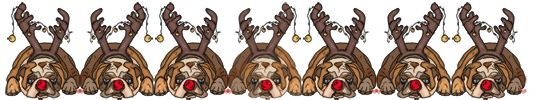 Dog Chrismtas Clipart Bull Dog Pictures at www.wonderweirded-pets.com  cute christmas bulldog with reindeer antlers, NO$ ADORABLE !!!!