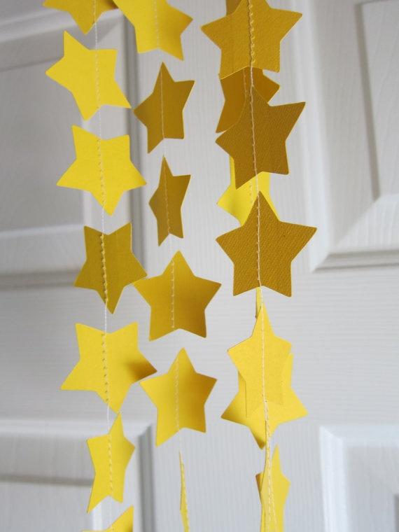 Star Paper Garland Magic Parties Baby Shower by SuzyIsAnArtist, $10.00