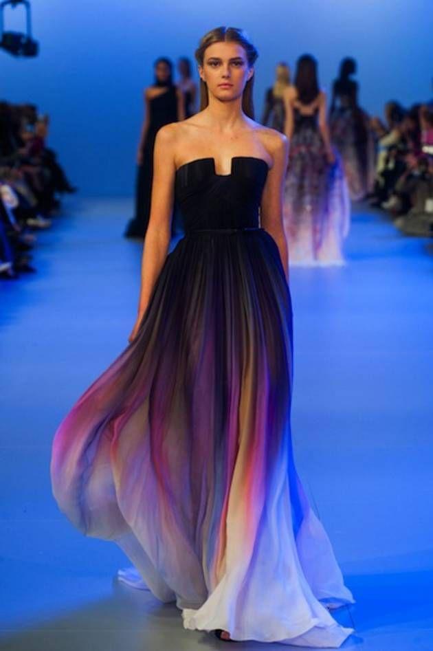 Elie Saab Black & Violet Gown