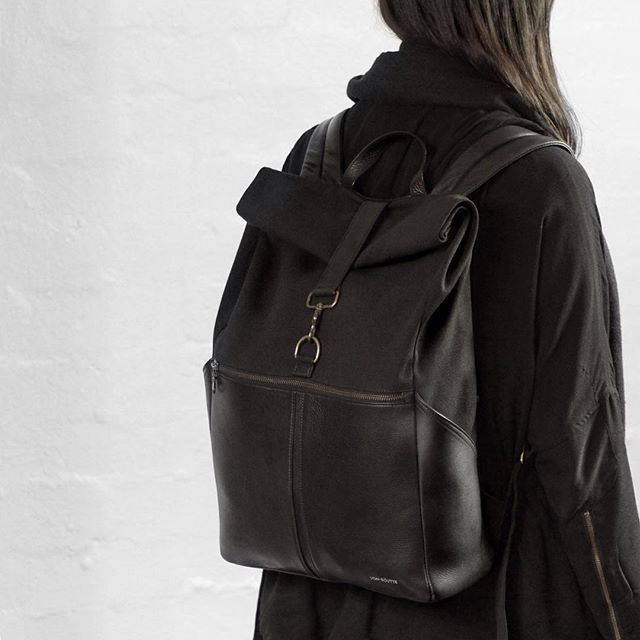 """Designed for everyday commute. Internal pockets for 13"""" laptop, iPad and any other daily essentials.  Backpack Sousse - Black"""