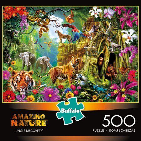 Jigsaw Puzzle Animal Dinosaurs Dino Jungle 300 oversized piece NEW Made in USA