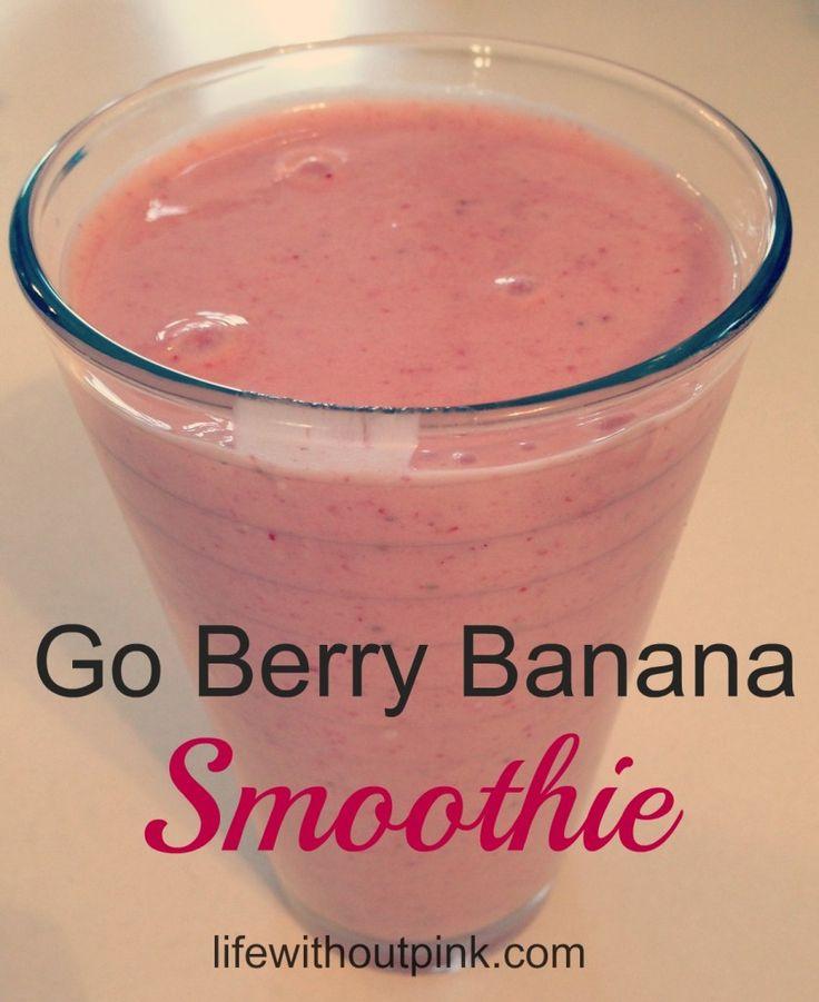 go berry banana smoothie #recipe #smoothie