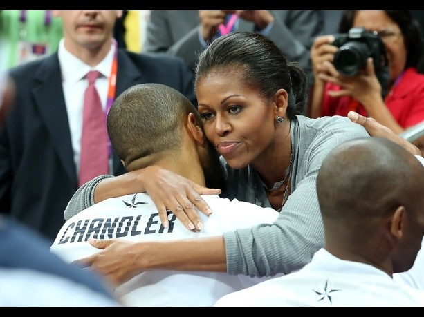 Hugging the first lady #2