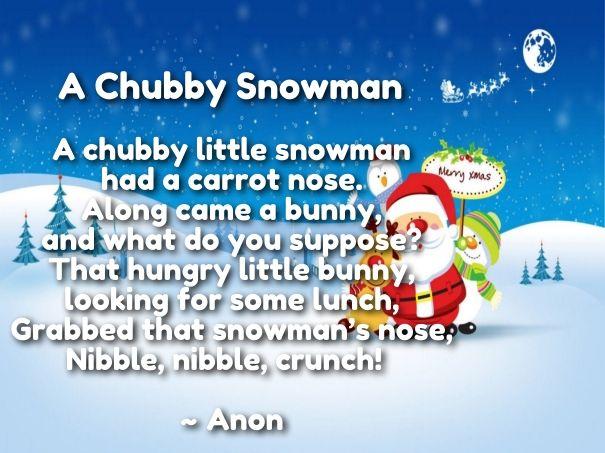 Short funny christmas poems