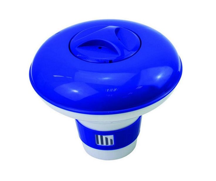"""8.5"""" Deluxe Large Blue and White Floating Swimming Pool Chlorine Dispenser"""