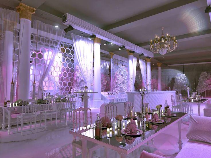3d düğün salonu tasarımı, düğün salonu çizimi, iç mimar tarafından çizilmiş düğün salonu dekorasyonu www.cihatozdemir.com