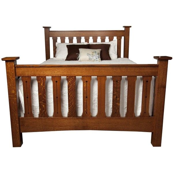 Amish Crafters Mission Slat Bed with Regular Footboard ($1,506) ❤ liked on Polyvore featuring home, furniture, beds, queen storage bedroom set, full size bed, storage bed, full size bed headboard and full size storage bed