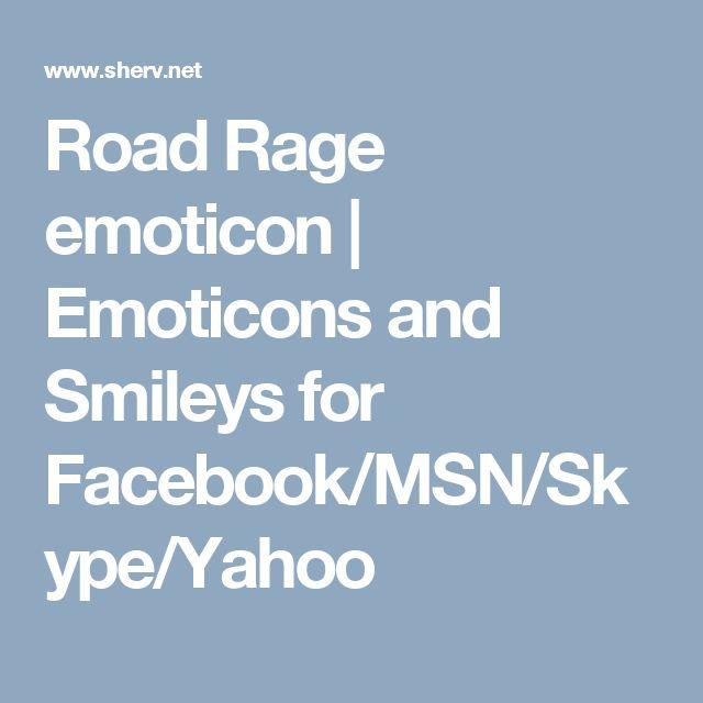 Road Rage emoticon | Emoticons and Smileys for Facebook/MSN/Skype/Yahoo