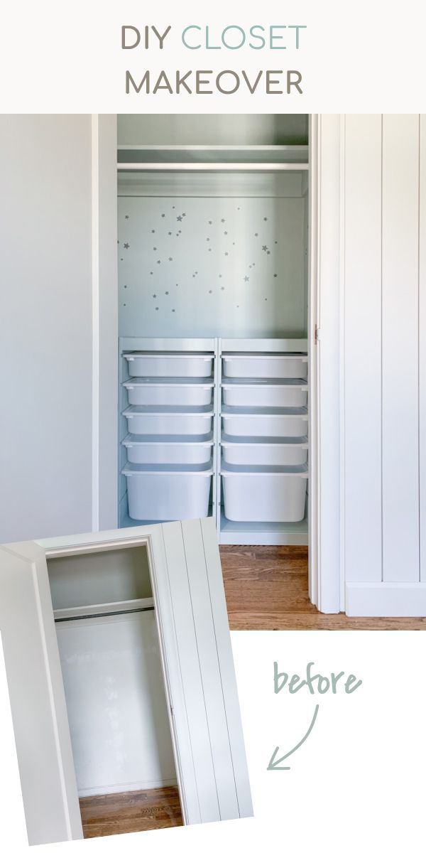 Closet Makeover With Ikea Trofast Hack Home Office Renovation Orc Week 3 In 2020 Closet Makeover Diy Closet Makeover Ikea Trofast