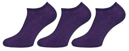StarliteWomens Low Cut Sports Socks 3 Pair Pack PurpleSize 68US -- Click on the image for additional details.