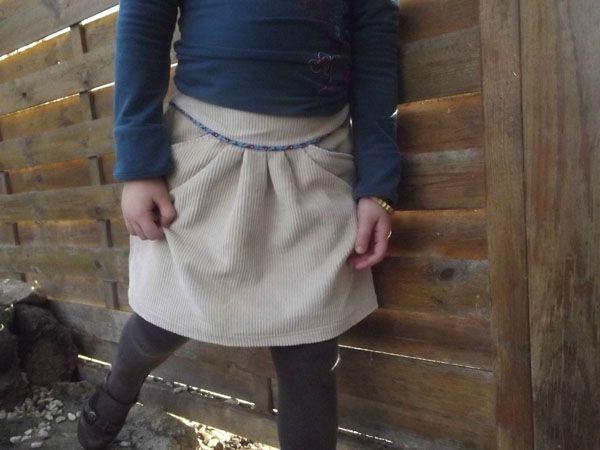 Jupe MINI-PERLE, patron de couture Ivanne.S, by les Babioles de Fanny Boop