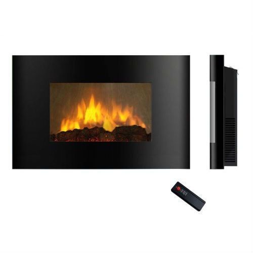 Modern Wall Mounted Electric Fireplace Heater with Remote Control - Hearts Attic