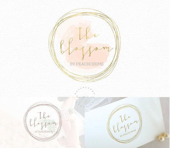 Diseño de Logo de círculo oro acuarela diseño de por PeachCreme