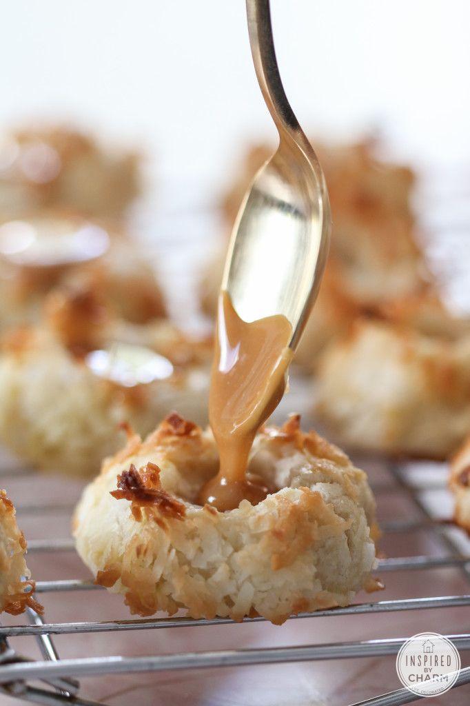 Salted Caramel Coconut Thumbprints