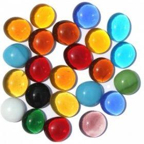 Камушки стеклянные System 96, разных цветов (Арт. № PEB-MIX1)